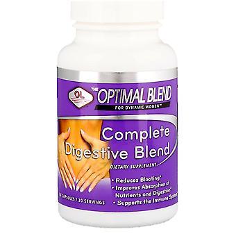 Laboratoires olympiens, mélange optimal, mélange digestif complet, pour les femmes, 60 capsules