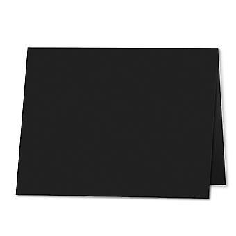 Jet Musta. 178mm x 256mm. 5x7 (Pitkä reuna). 235gsm taitettu kortti tyhjä.