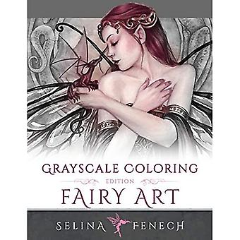 Fairy Art - Grayscale Coloring Edition (Grayscale Coloring Books by Selina)