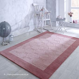 Hex vaaleanpunainen matto