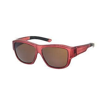 Sunglasses Unisex red with brown lens Vz0037ll