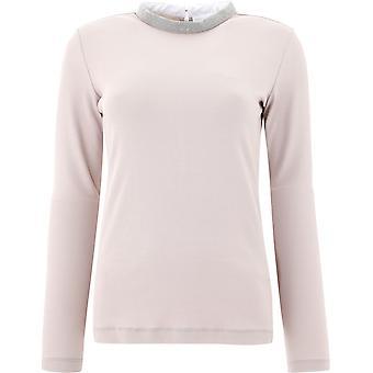 Fabiana Filippi Jed220w134c4432113 Women's Beige Cotton Sweater