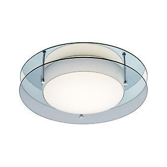 Luminosa Lighting - Flush Ceiling, 1 x 18W LED, 3000K, 1620lm, IP44, Røkt, Speil