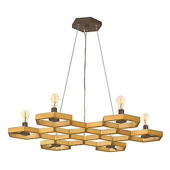 Elstead Moxie - 6 Light Loft Pendant Lysekrone Guld, E14