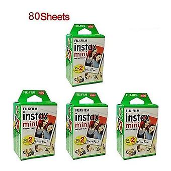 20/10/40/60/80/100 Feuilles Instax Mini 11/9 Films White Edge, 3 Inch Wide Film