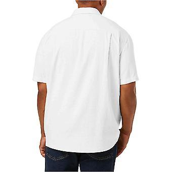 Essentials Men's Big & Tall Short-Sleeve Linen Cotton Shirt fit by DXL...