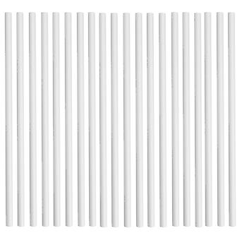 Rink Drink Biodegradable Paper Drinking Straws - Solid White - Pack of 50