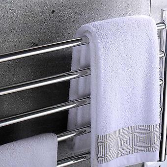 Uppvärmd Handduksvärmare Badrum- 304 rostfritt stål fem-lagers handduk rack väggmonterad elektrisk uppvärmd handdukstork torktumlare