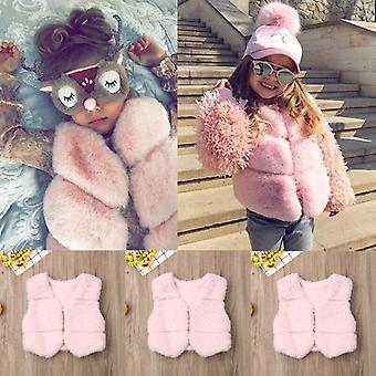 Autumn Winter Baby Faux Vest Waistcoat Kid Warm Jacket Outwear Coat Tops