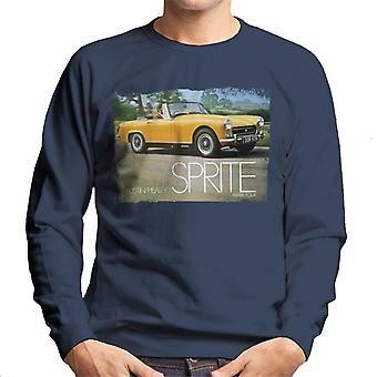 Austin Healey Sprite Mark IV Yellow British Motor Heritage Men's Sweatshirt