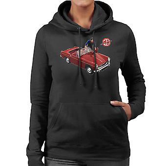 MG Punainen tulossa autoon British Motor Heritage Women's Huppari