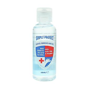 Simply Protect Alcohol Cleansing Hand Gel 60ml