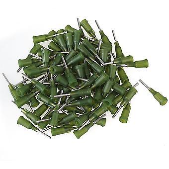 100 Pieces Glue Liquid Dispensing Needle Blunt Tips 14Ga Dark Green