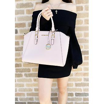 Michael kors ciara large top zip satchel powder blush pink leather crossbody