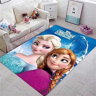 Disney Frozen Rug Kids Playmat Cartoon Princess Cute Room Carpet Tale Bedroom