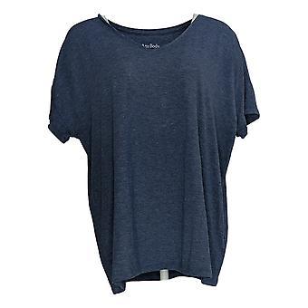 Anybody Women's Top SeaWool Boyfriend V-Neck T-Shirt Blue A377834