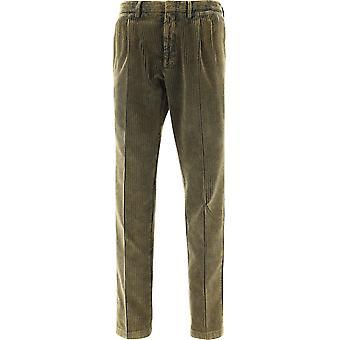 Lardini Immosca5sim55078400ve Men's Green Cotton Pants
