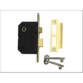 Yale 2 Lever Mortice Lock 2.5in Chrome Plated P-M246-CH-63