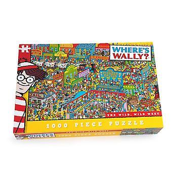 Onde's Wally Jigsaw Puzzle Wild West 1000 peças Idade 12+