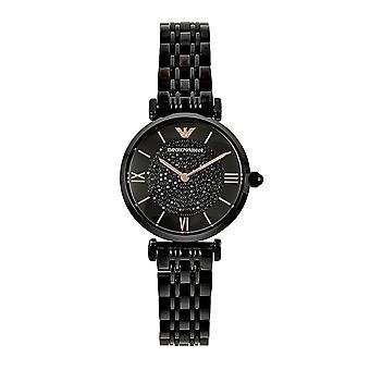 Armani Ar11245 Black & Rose Gold Ladies Watch