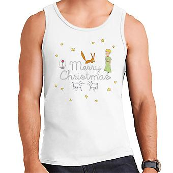 The Little Prince Christmas Stars Fox Sheep Men's Vest