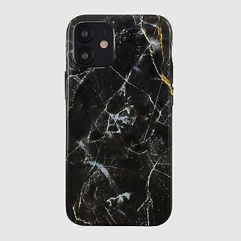Eco Friendly Printed Marble Black iPhone 12 Case