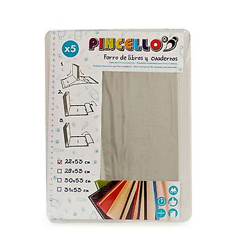 Adhesive Book Cover (5 Pieces) (28 x 53 cm)
