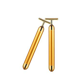 24k Gold Roller Vibrant -minceur Facial Skin Beauty Bar Pulse Firming Face