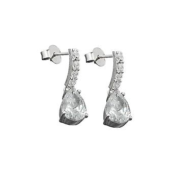 Earrings Zirconia White Silver 925
