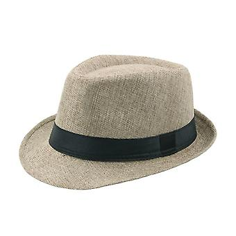 New Spring Summer Retro Men's Hats Fedoras Top Jazz Plaid Adult Bowler Classic