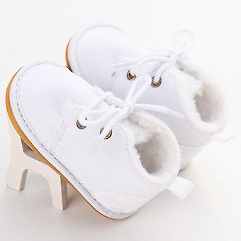 Infant Baby Snow Booties Fur Boots, Warm Strappy Shoes