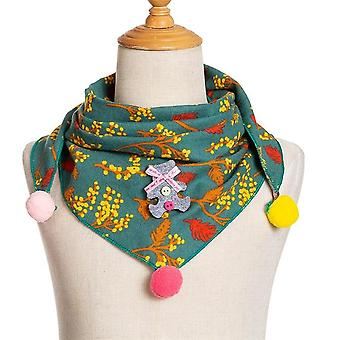Spring, Autumn Baby Triangle Scarves, Cotton Linen,, Bibs, Toddler Neck Wear