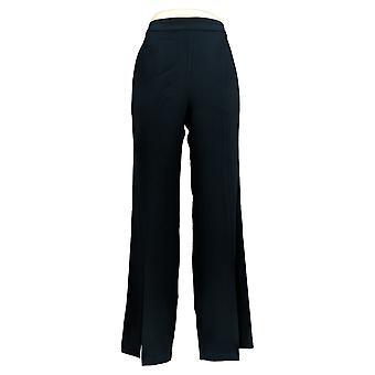 G.I.L.I. consiguió que les encanta Mujeres's Pantalones Crepe Front Slit Flared Blue A350334