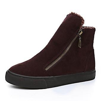 Vinter snö skor zip varm plysch för kalla vinterstövlar Sweet Ladies Varumärke Ankel