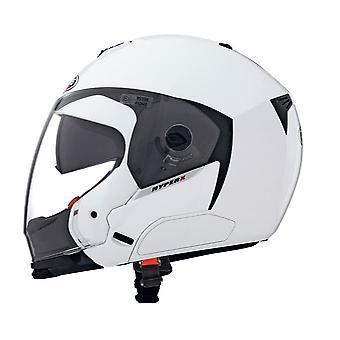 Caberg Hyper X Metal Helmet Gloss White Integrated Sun Visor ACU Approved XS