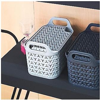 Strata kleine urbane Kunststoff Aufbewahrungskorb mit Deckel