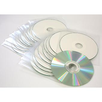 10X traxdata blank discs cd cd-r 52x diamond silver / white printable in sleeves