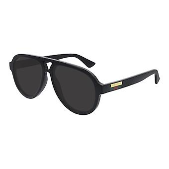 Gucci GG0767S 001 Black/Grey Sunglasses