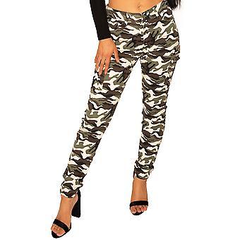 Slim Camo Cargo Pants - Green, Brown & Beige