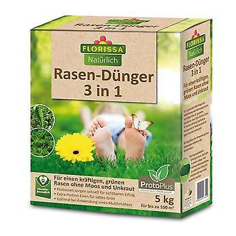 FLORISSA Lawn Fertilizer 3in1 Proto Plus, 5 kg