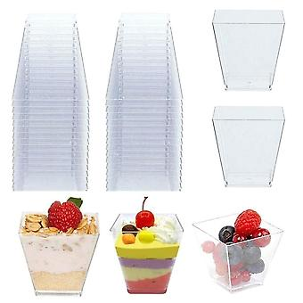 Disposable Plastic Cups, Portion Transparent Food Container