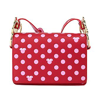Loungefly Cross Body Bag Minnie Mouse Pink Polka Dot Bow ny officiell rosa