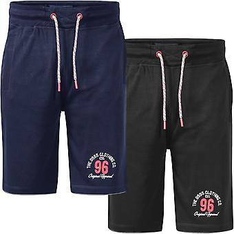 Duke D555 Mens Tompkins Big Tall King Storlek Elastisk Midja Fleece Sweat Shorts