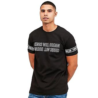Kings Will Dream   Kwd Monlow 7152 Half-sleeve T-shirt - Black