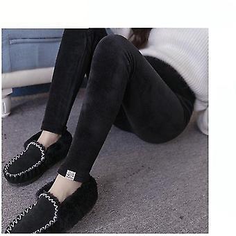 Fløjl Maternity Leggings Bukser til gravide kvinder Varme bukser