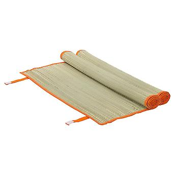 2x Straw Beach Mats Roll Up Camping Hiking Picnic Blanket 60 x 178cm Orange