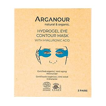 Hydrogel eye contour mask with hyaluronic acid 4 units