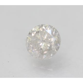 Certified 1.06 Carat F SI2 Round Brilliant Enhanced Natural Loose Diamond 6.29mm