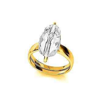 24K kultainen kristallirengas