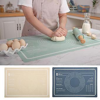 Ruokalaatuinen silikoni taikinatyyny Keittiö Liukumaton Työkalut Mesurement Leipämatto Jauhojen leivonnaistyyny